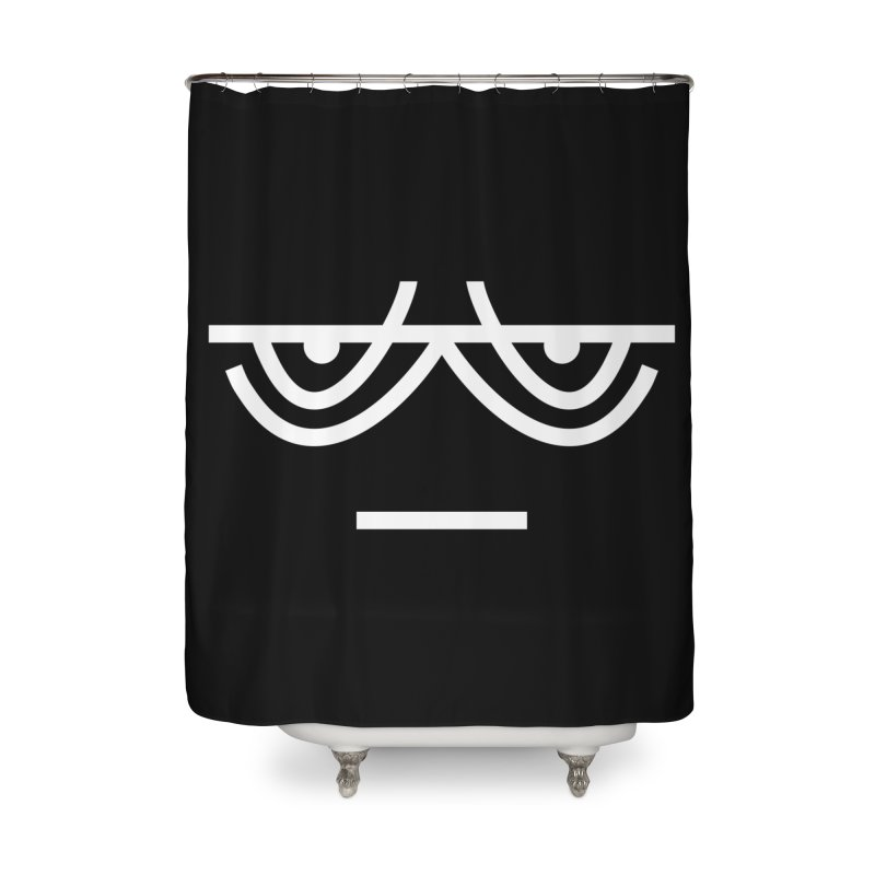 TIRED X BORED EMOJI Home Shower Curtain by EHELPENT