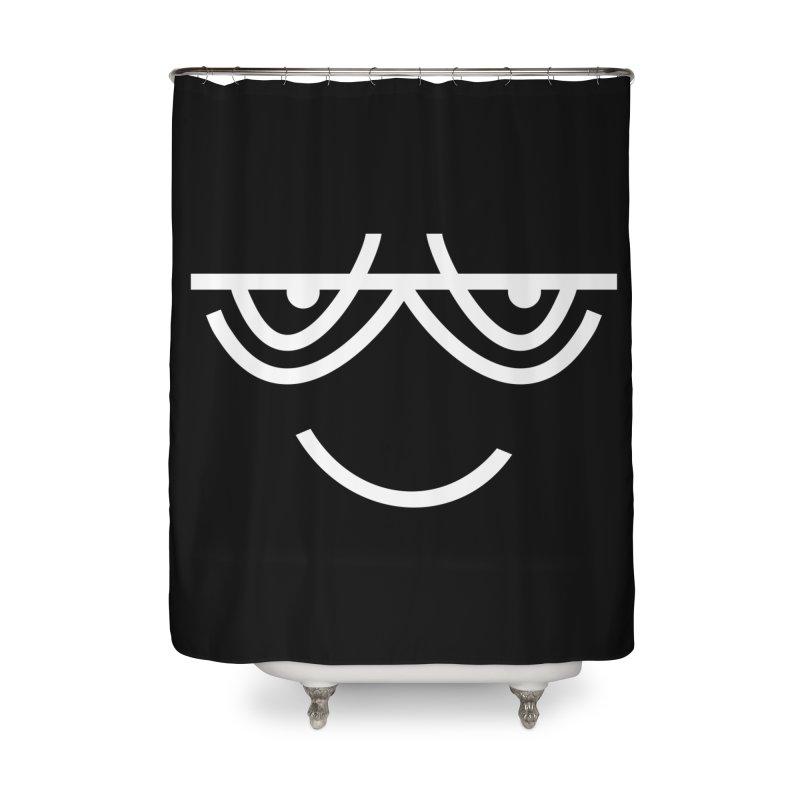 HAPPY EMOJI Home Shower Curtain by EHELPENT