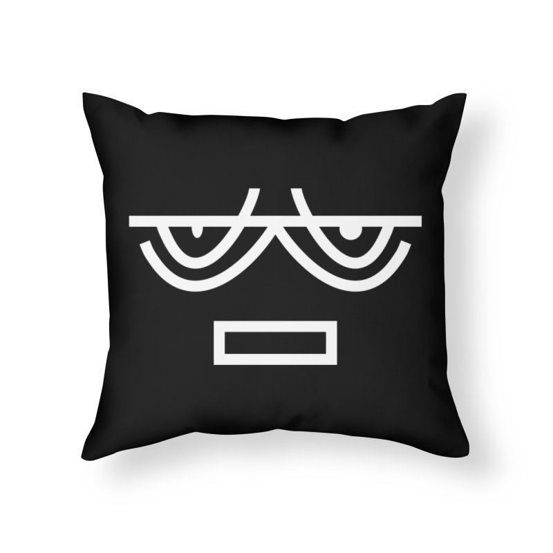 NEUTRAL FACE EMOJI Home Throw Pillow by EHELPENT
