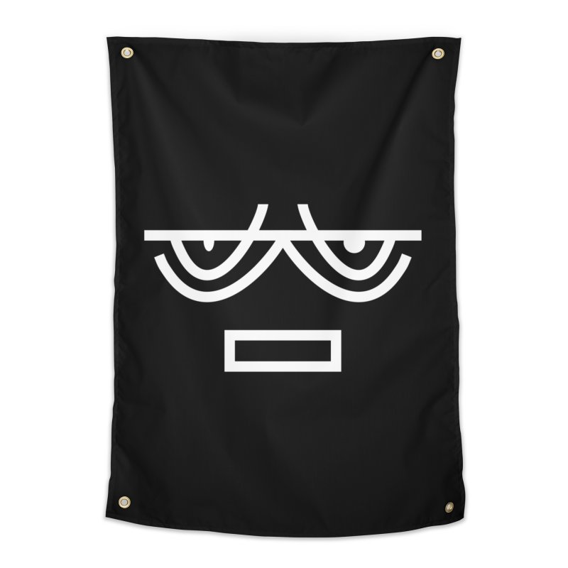 NEUTRAL FACE EMOJI Home Tapestry by EHELPENT