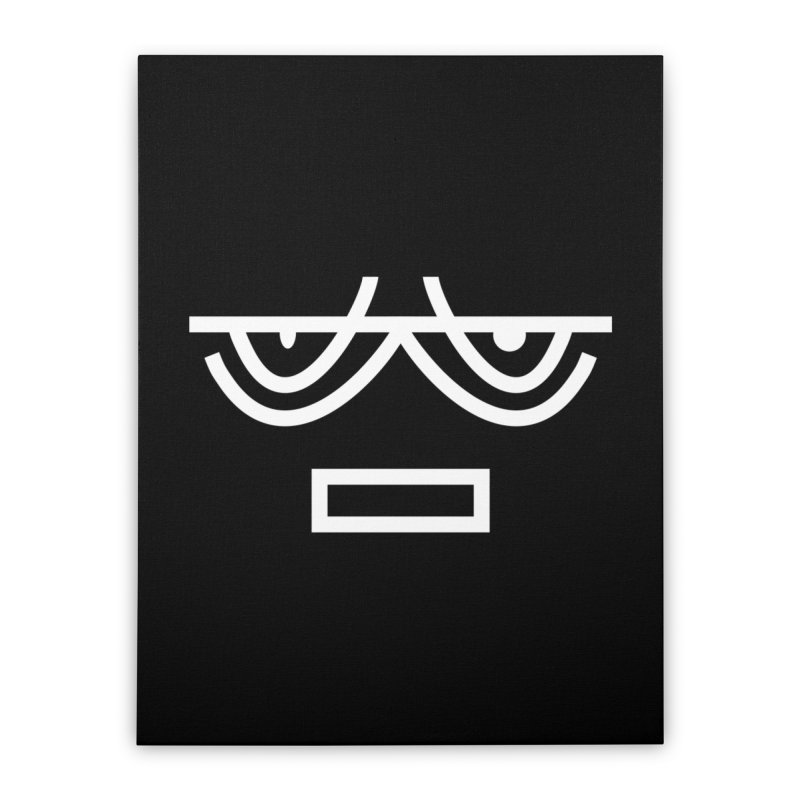 NEUTRAL FACE EMOJI Home Stretched Canvas by EHELPENT