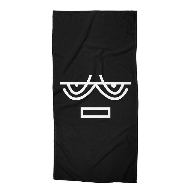 NEUTRAL FACE EMOJI Accessories Beach Towel by EHELPENT