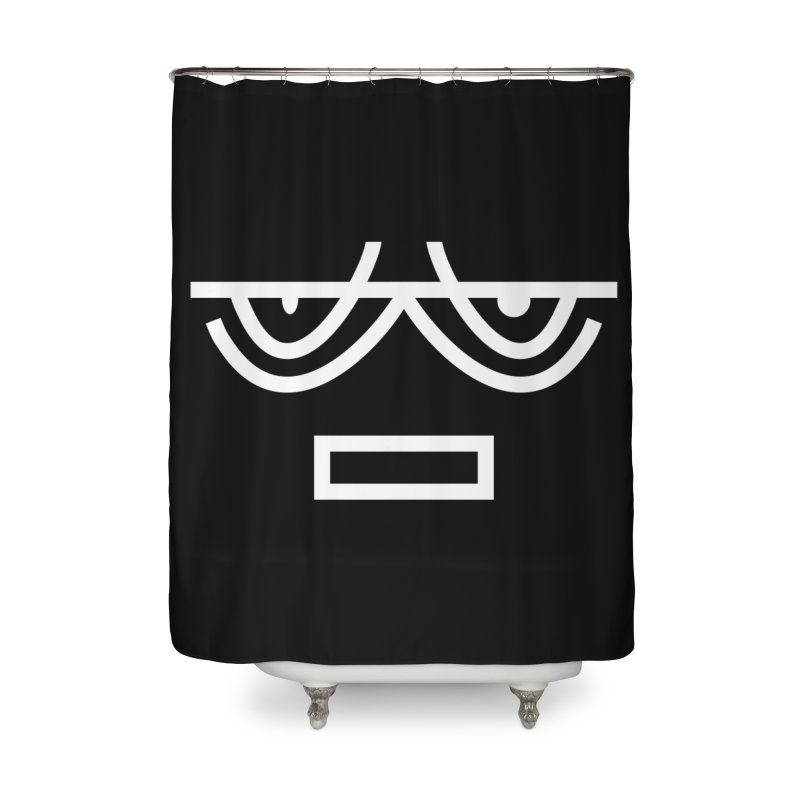 NEUTRAL FACE EMOJI Home Shower Curtain by EHELPENT