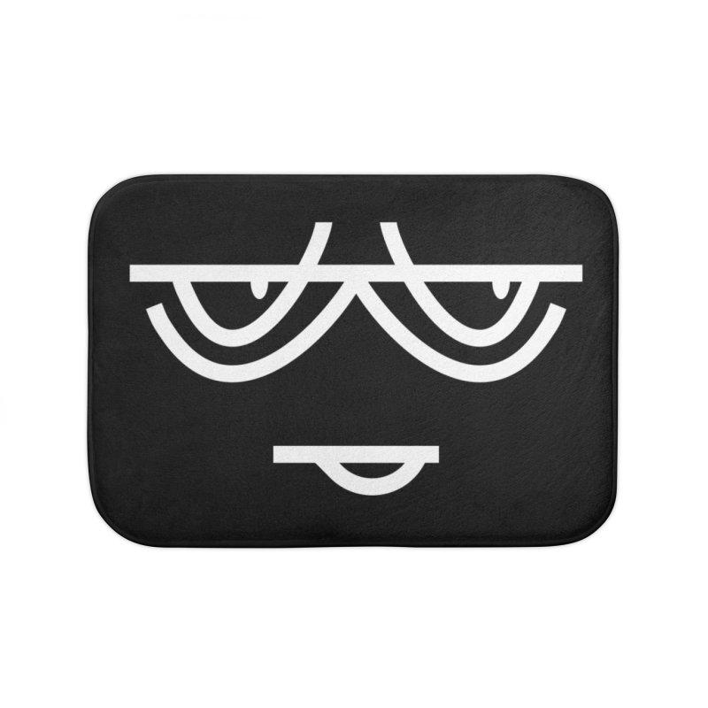 SMIRKING FACE EMOJI Home Bath Mat by EHELPENT