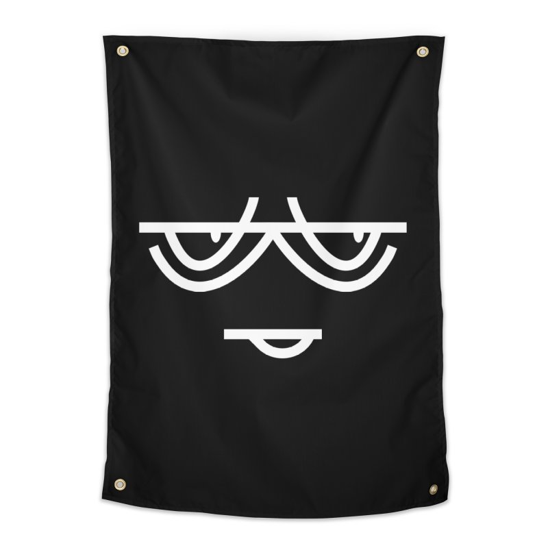 SMIRKING FACE EMOJI Home Tapestry by EHELPENT