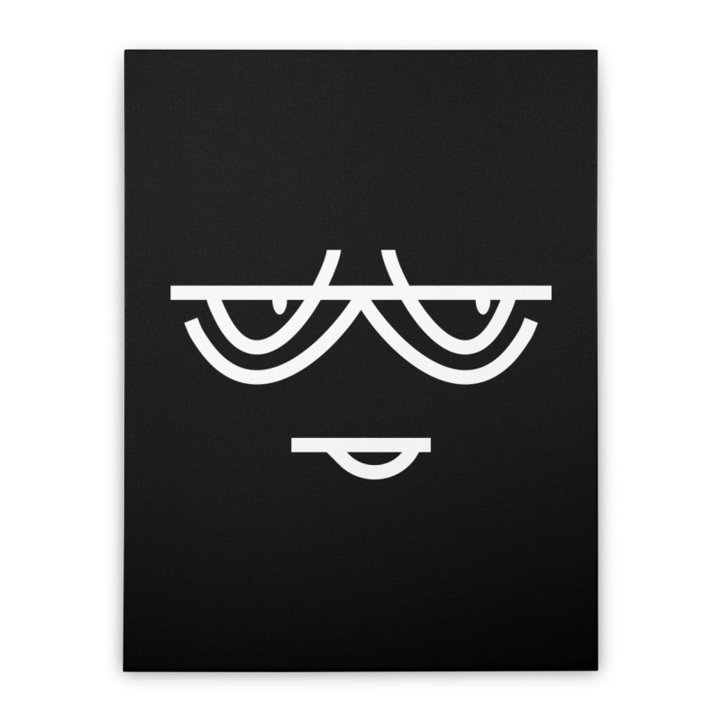 SMIRKING FACE EMOJI Home Stretched Canvas by EHELPENT