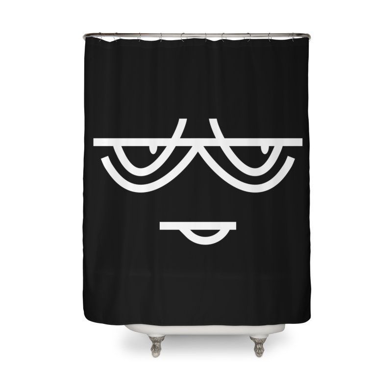 SMIRKING FACE EMOJI Home Shower Curtain by EHELPENT