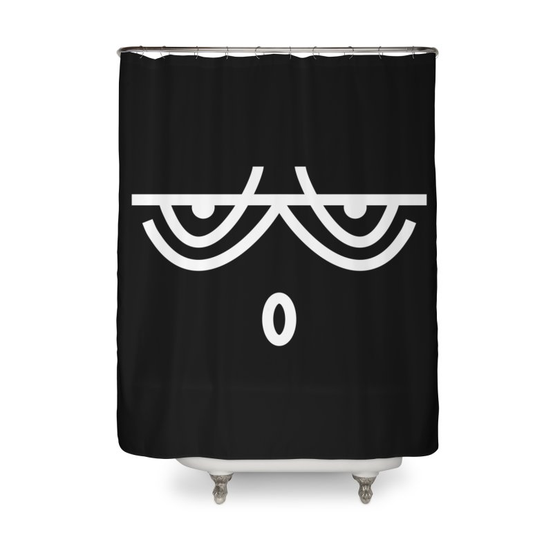 HUSHED EMOJI Home Shower Curtain by EHELPENT