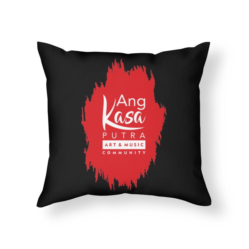 ANGKASA PUTRA (RED) Home Throw Pillow by EHELPENT