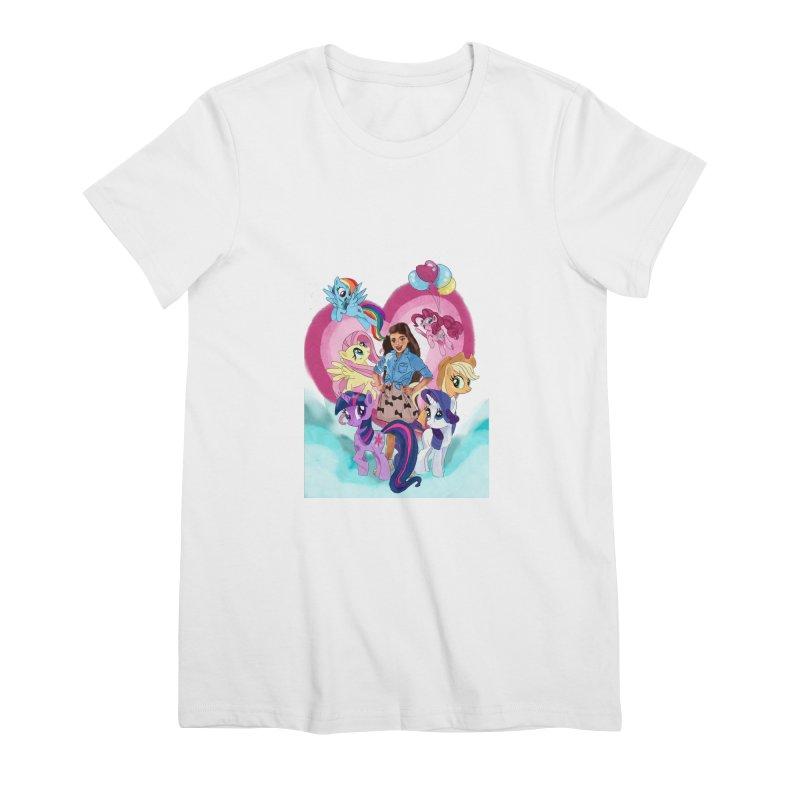 My Little Pony Women's Premium T-Shirt by Eii's Artist Shop