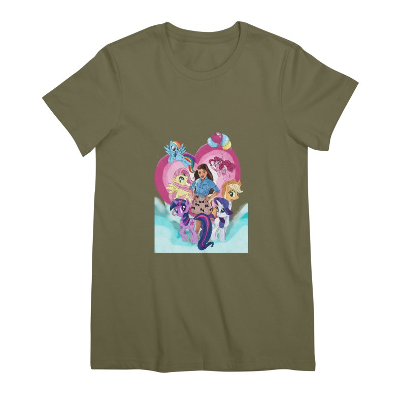 My Little Pony Women's Premium T-Shirt by Eii's Artist Shop