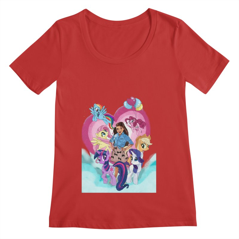 My Little Pony Women's Regular Scoop Neck by Eii's Artist Shop