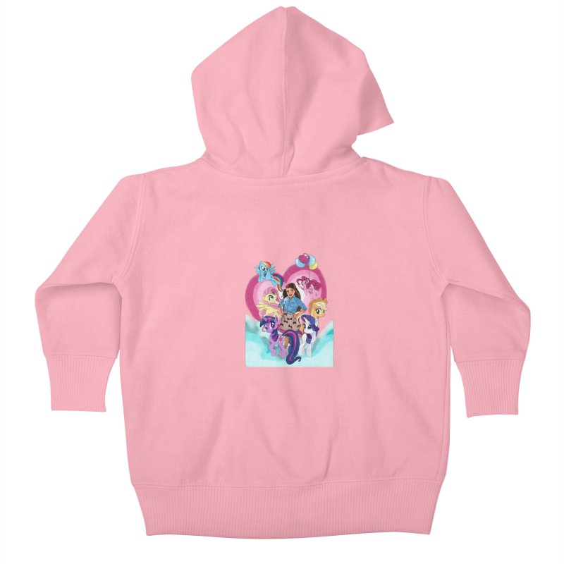 My Little Pony Kids Baby Zip-Up Hoody by Eii's Artist Shop