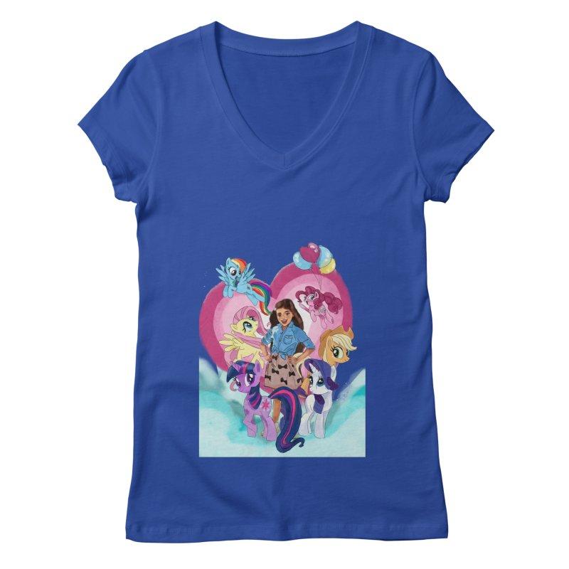 My Little Pony Women's Regular V-Neck by Eii's Artist Shop