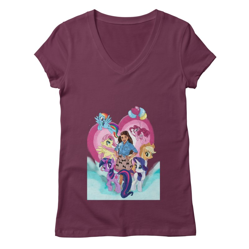 My Little Pony Women's V-Neck by Eii's Artist Shop