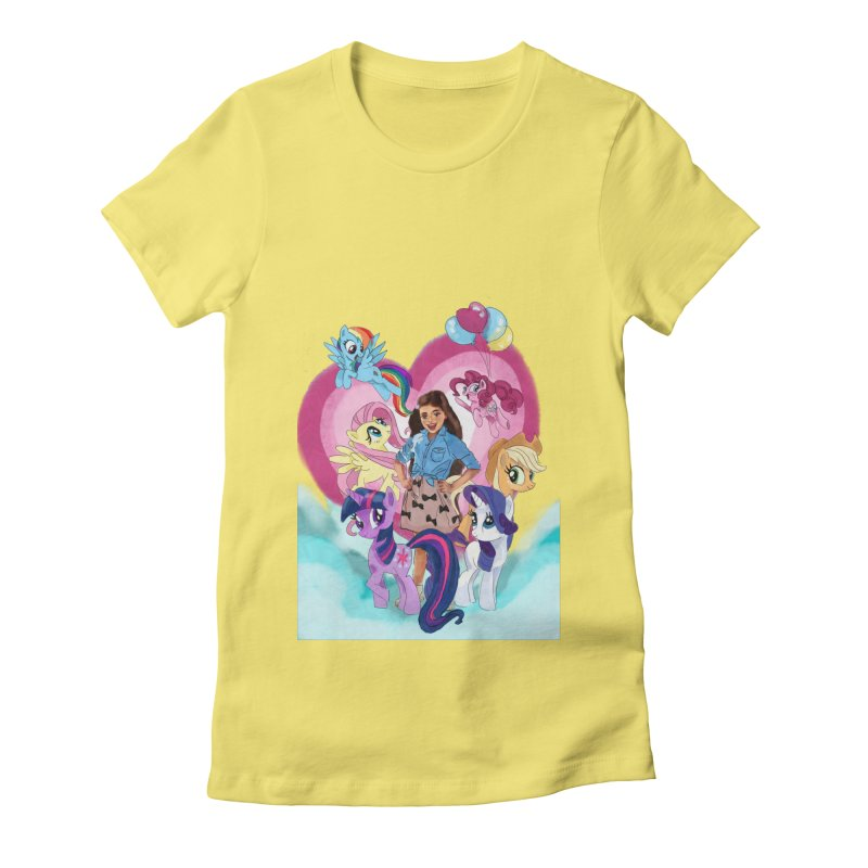My Little Pony Women's Fitted T-Shirt by Eii's Artist Shop