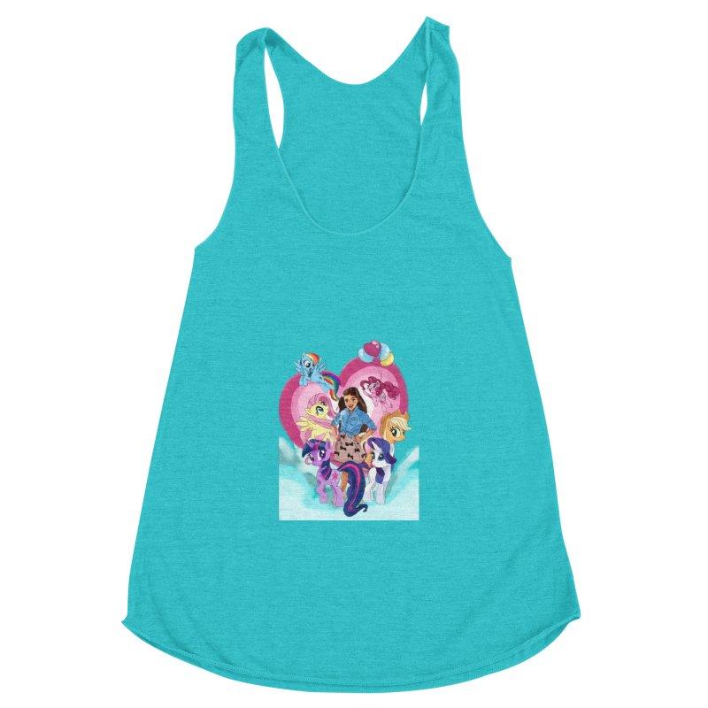 My Little Pony Women's Racerback Triblend Tank by Eii's Artist Shop