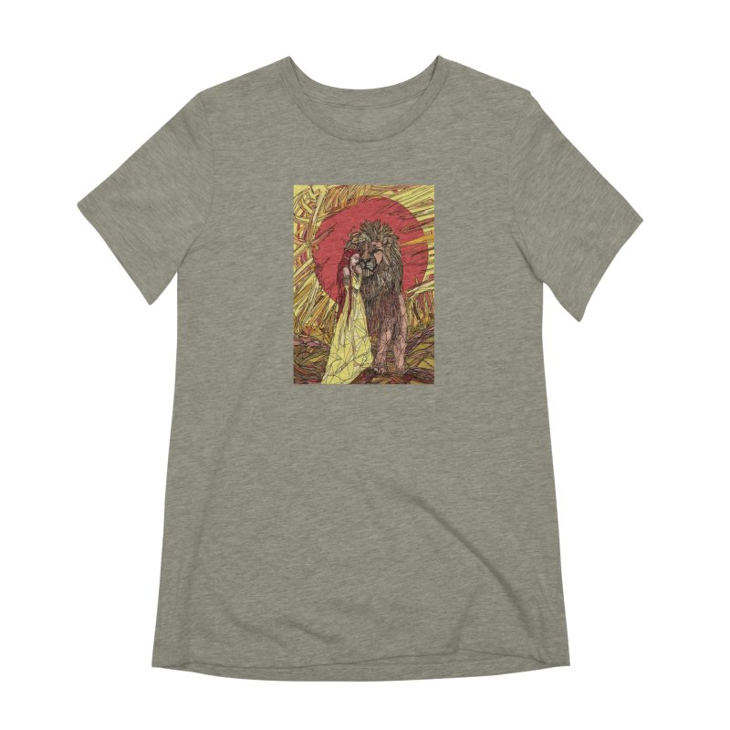 lion sign Women's Extra Soft T-Shirt by Eii's Artist Shop