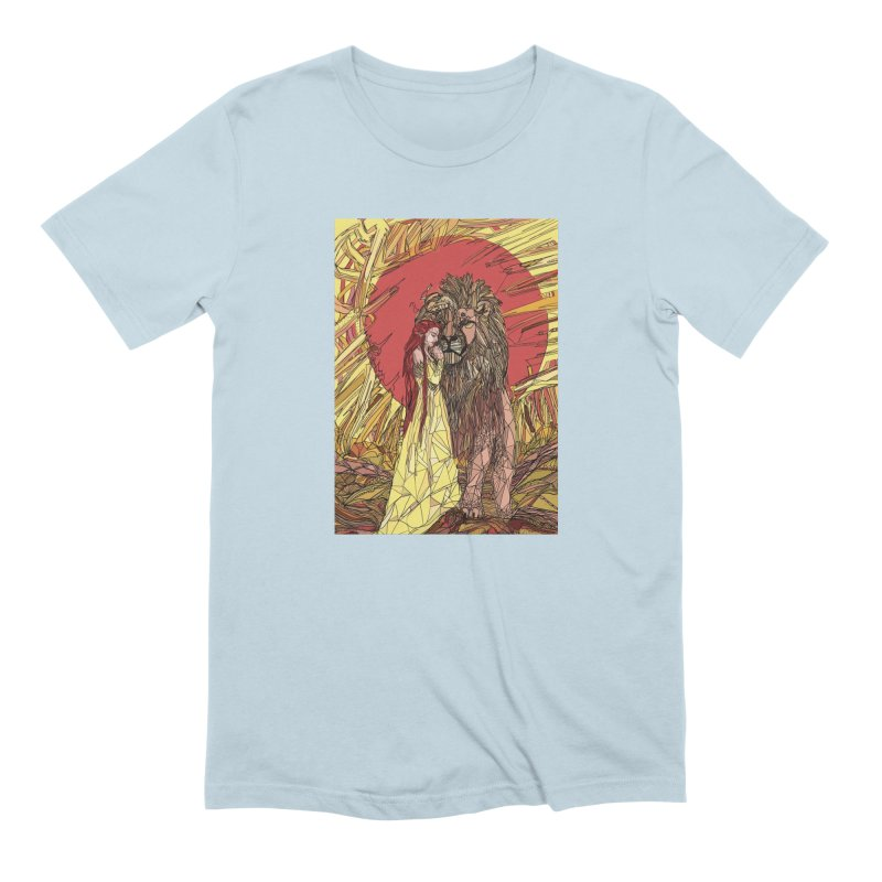 lion sign Men's Extra Soft T-Shirt by Eii's Artist Shop
