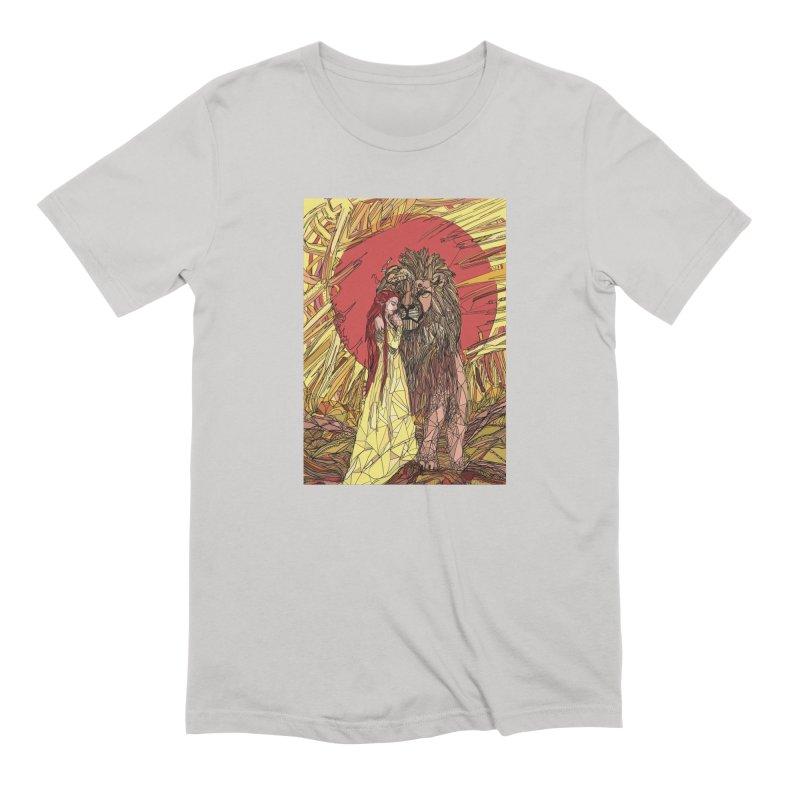 lion sign Men's Extra Soft T-Shirt by Eii's Artist Shop
