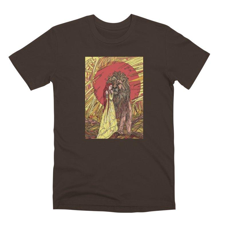 lion sign Men's Premium T-Shirt by Eii's Artist Shop