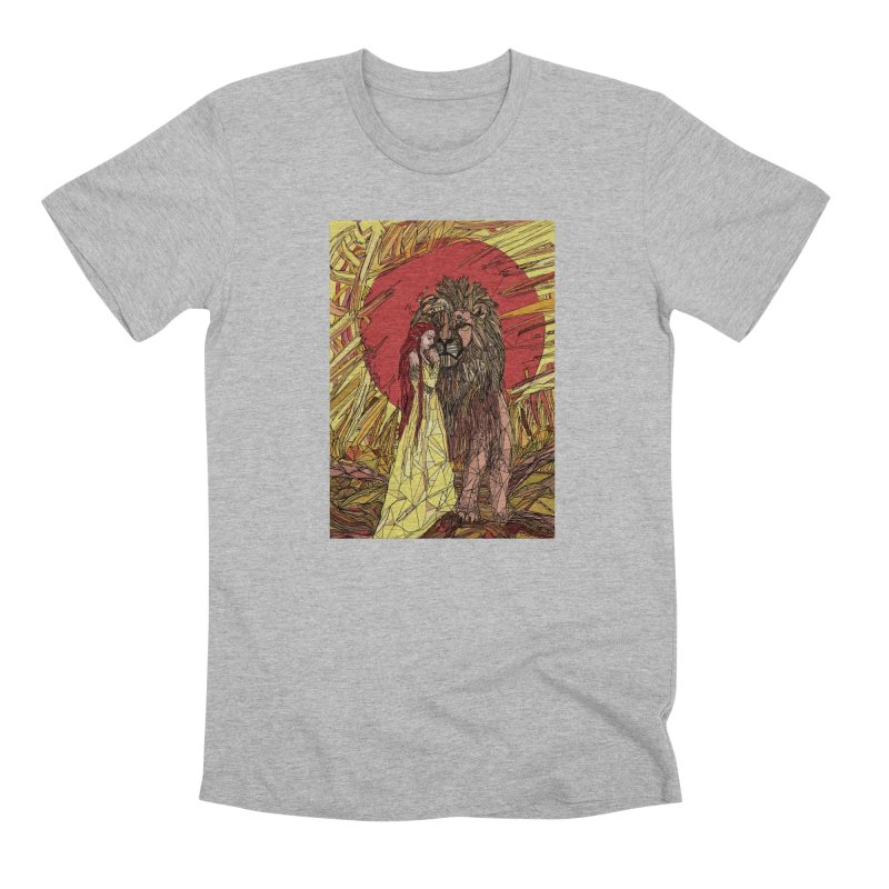 lion sign Men's Premium T-Shirt by Eii's Artist Shop