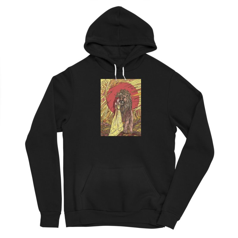 lion sign Women's Pullover Hoody by Eii's Artist Shop