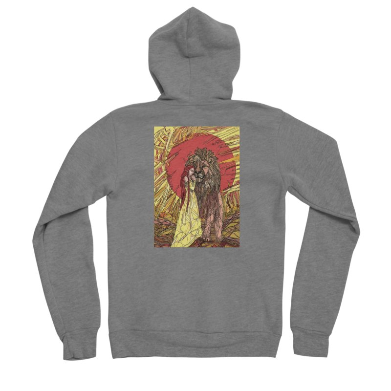 lion sign Men's Zip-Up Hoody by Eii's Artist Shop