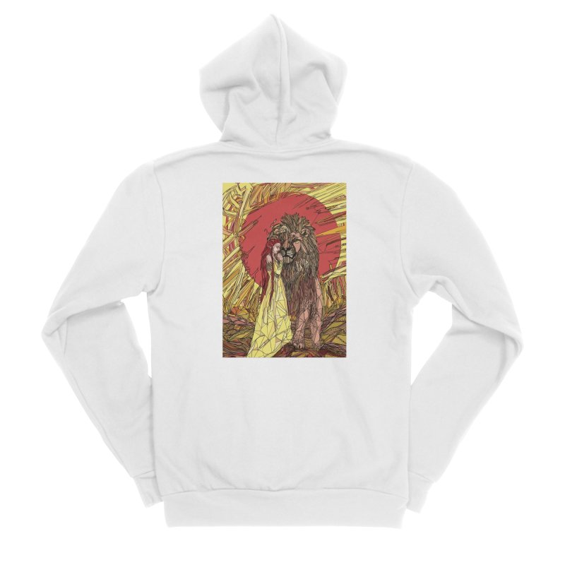 lion sign Men's Sponge Fleece Zip-Up Hoody by Eii's Artist Shop