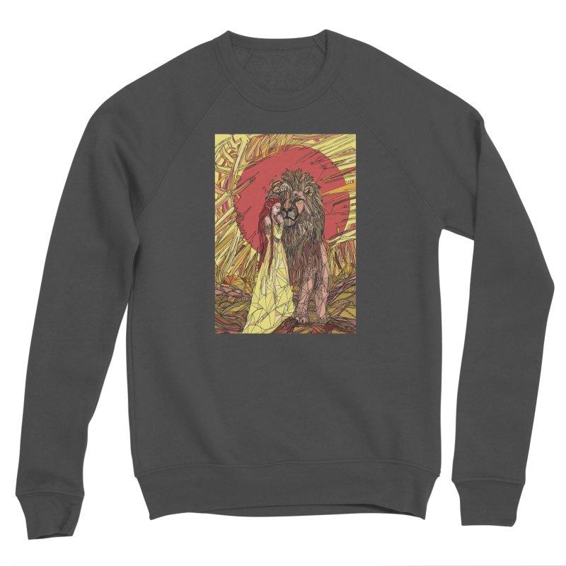 lion sign Women's Sponge Fleece Sweatshirt by Eii's Artist Shop
