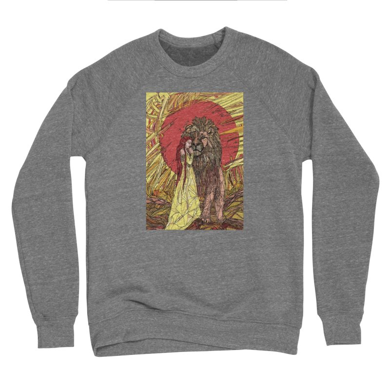 lion sign Women's Sponge Fleece Sweatshirt by Eii's Artist Shop