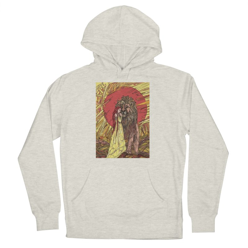 lion sign Women's French Terry Pullover Hoody by Eii's Artist Shop