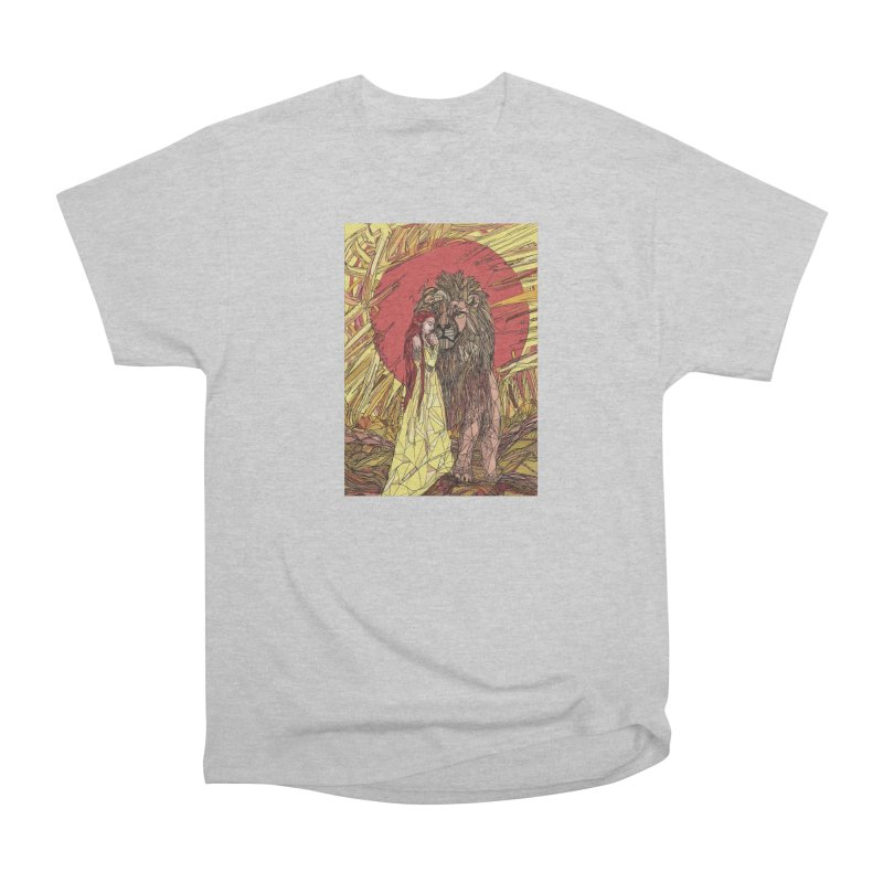 lion sign Men's Heavyweight T-Shirt by Eii's Artist Shop