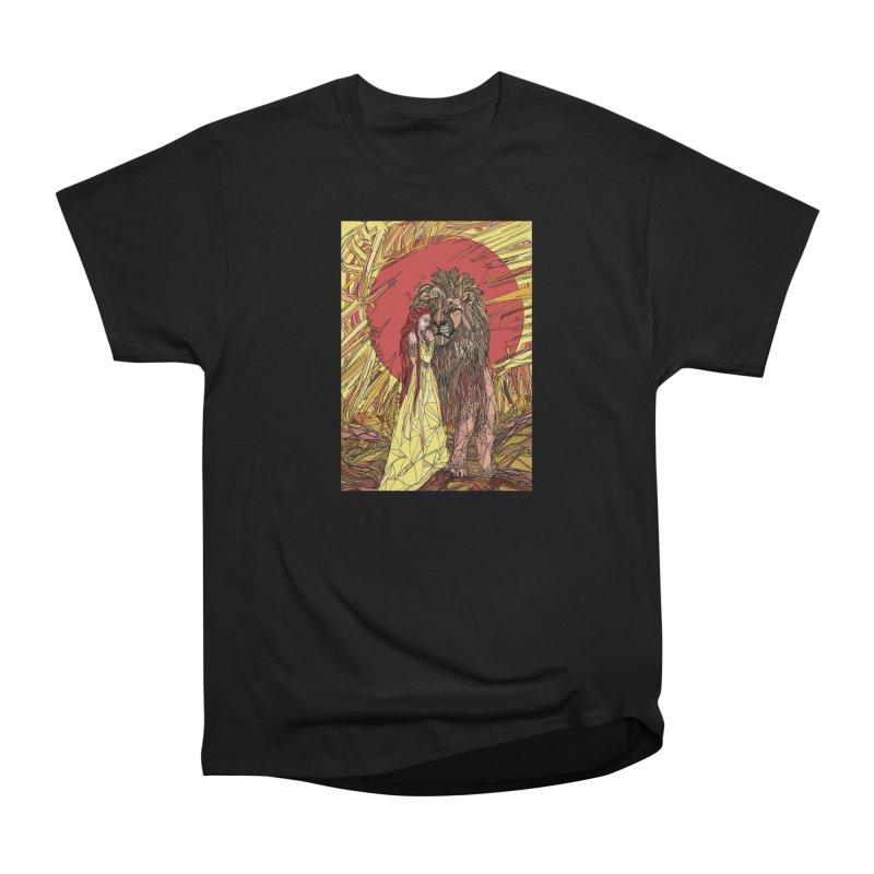 lion sign Women's Heavyweight Unisex T-Shirt by Eii's Artist Shop