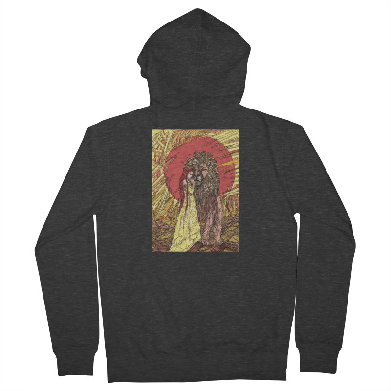 lion sign Women's French Terry Zip-Up Hoody by Eii's Artist Shop