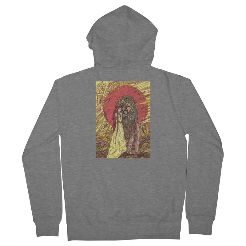 lion sign Men's French Terry Zip-Up Hoody by Eii's Artist Shop