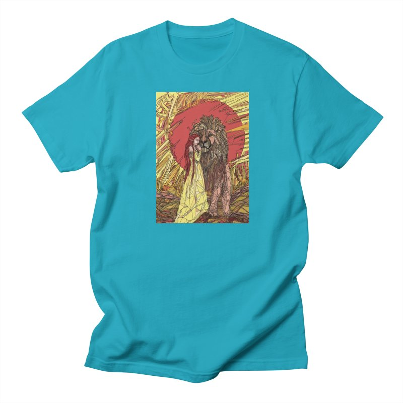 lion sign Men's Regular T-Shirt by Eii's Artist Shop
