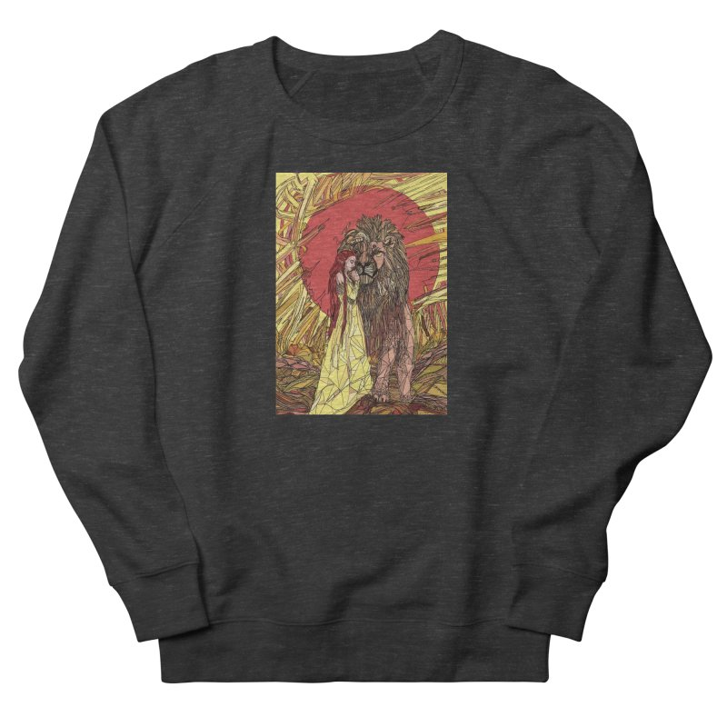 lion sign Women's French Terry Sweatshirt by Eii's Artist Shop