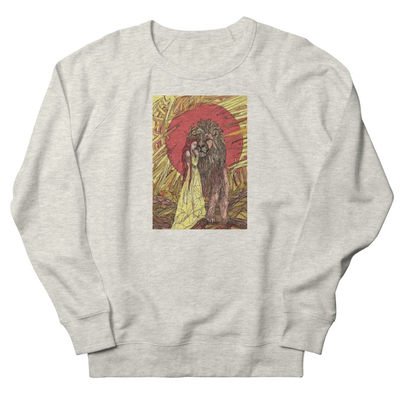 lion sign Women's French Terry Sweatshirt by Eii's Artist Shop