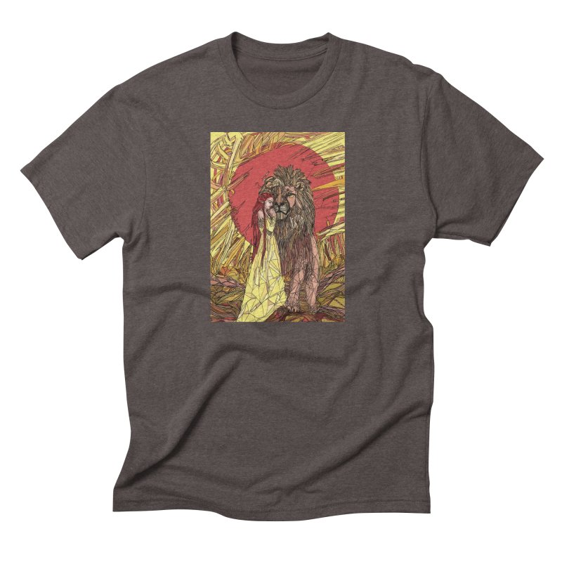 lion sign Men's Triblend T-Shirt by Eii's Artist Shop