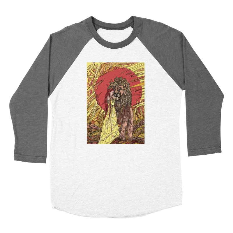 lion sign Women's Baseball Triblend Longsleeve T-Shirt by Eii's Artist Shop