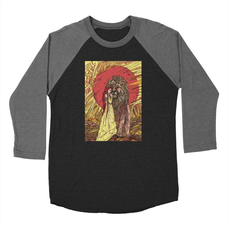 lion sign Women's Baseball Triblend Longsleeve T-Shirt by Eii's Artist Shop