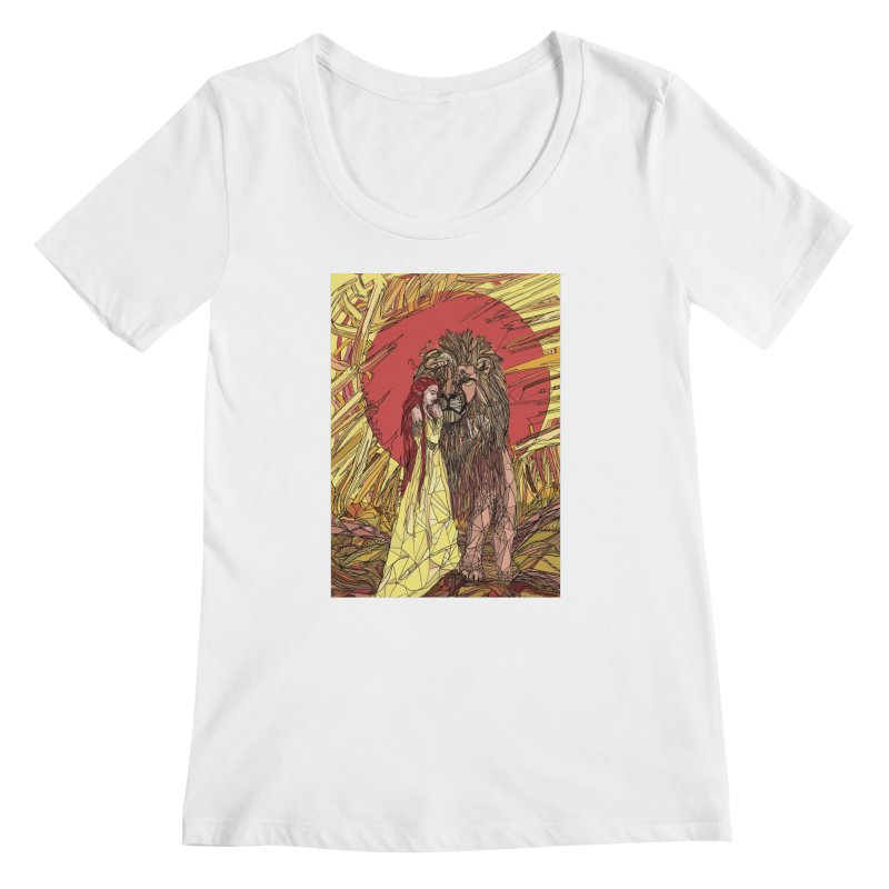 lion sign Women's Regular Scoop Neck by Eii's Artist Shop