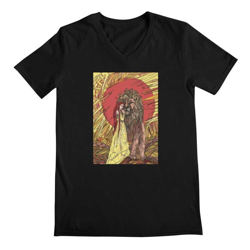 lion sign Men's Regular V-Neck by Eii's Artist Shop