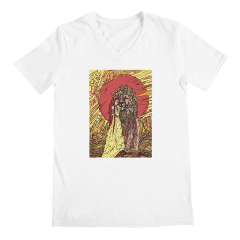 lion sign Men's V-Neck by Eii's Artist Shop