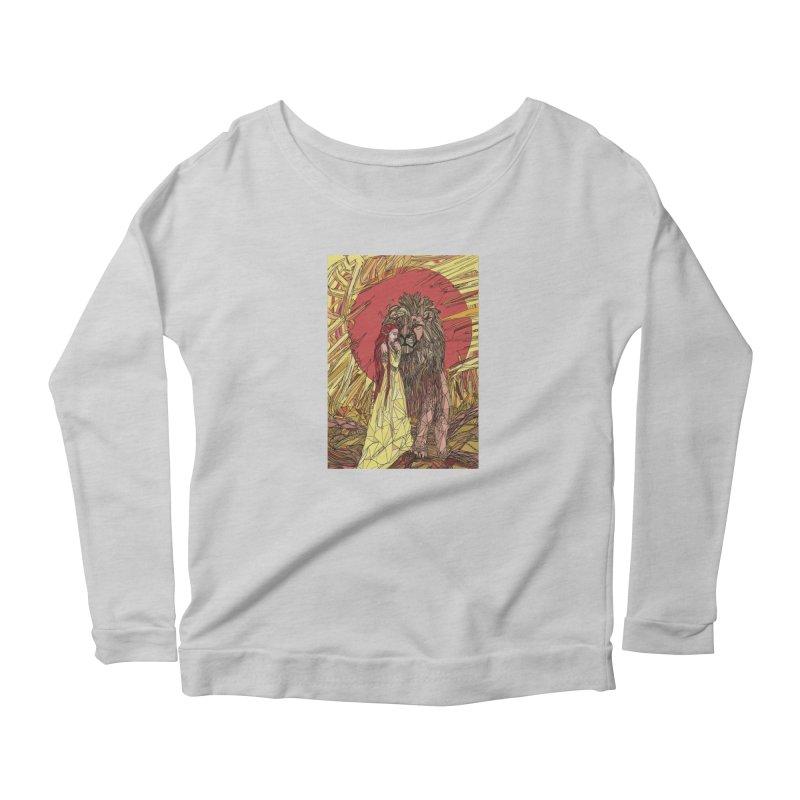 lion sign Women's Scoop Neck Longsleeve T-Shirt by Eii's Artist Shop