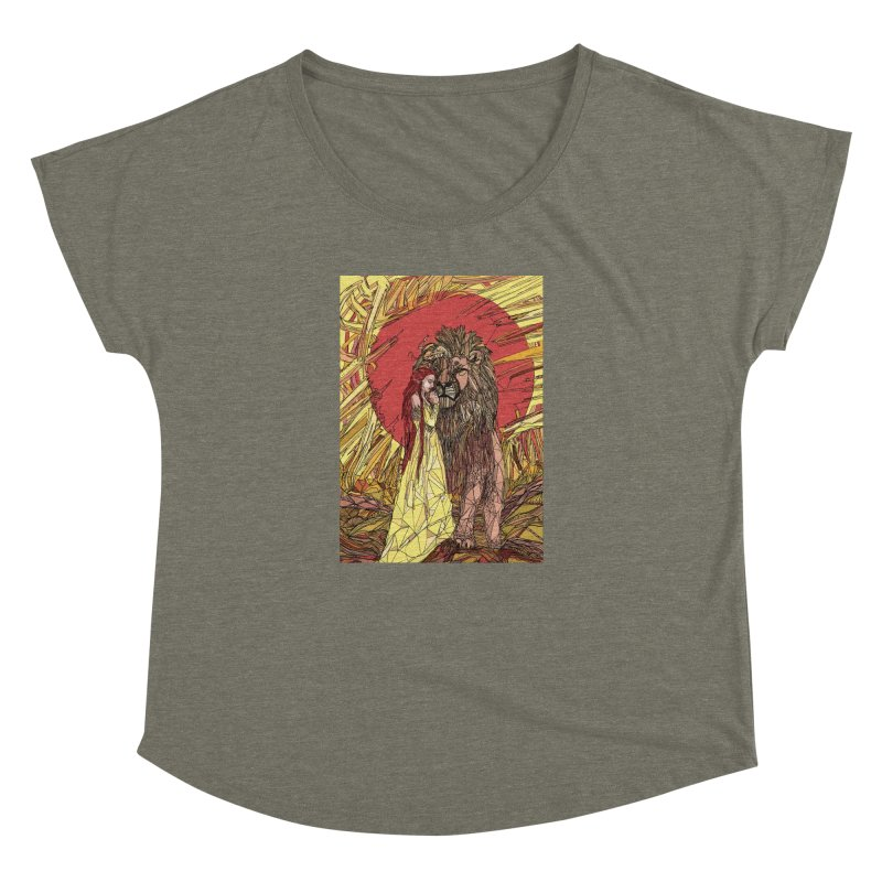 lion sign Women's Dolman Scoop Neck by Eii's Artist Shop