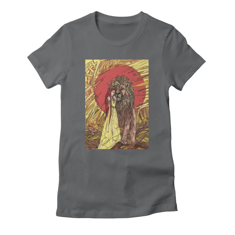 lion sign Women's Fitted T-Shirt by Eii's Artist Shop