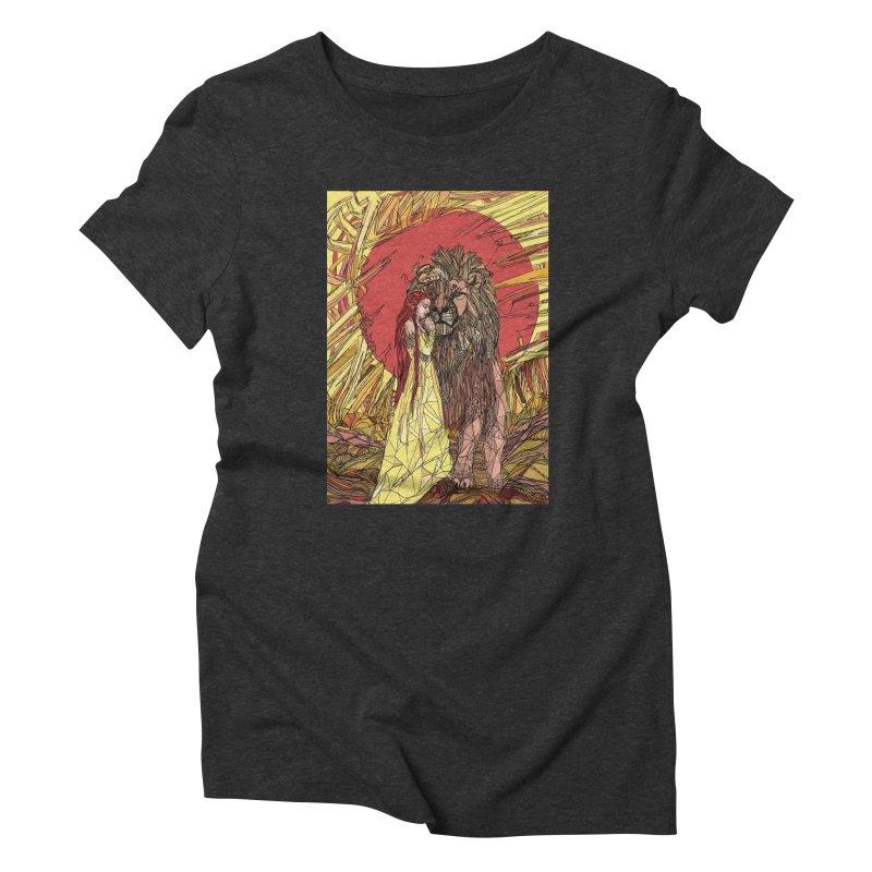 lion sign Women's Triblend T-Shirt by Eii's Artist Shop