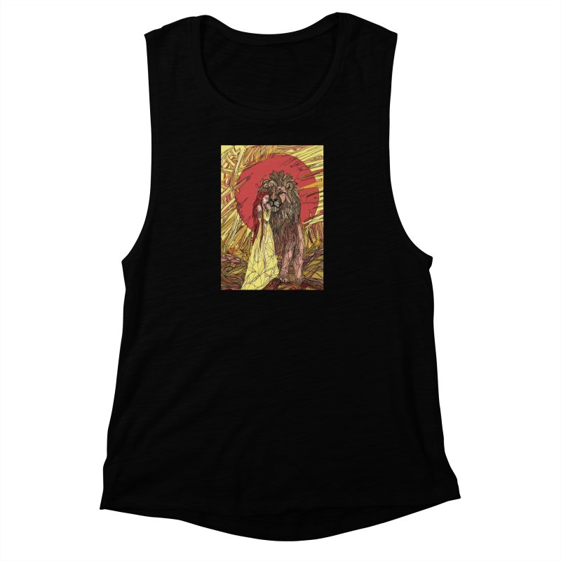 lion sign Women's Muscle Tank by Eii's Artist Shop